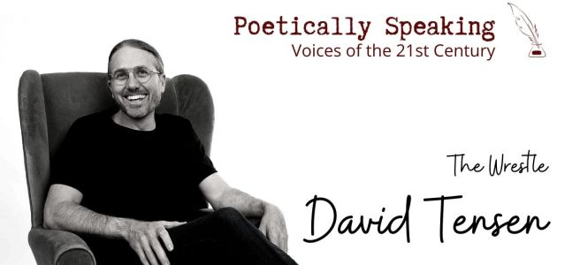 Website header image for Poetically Speaking interview with David Tensen